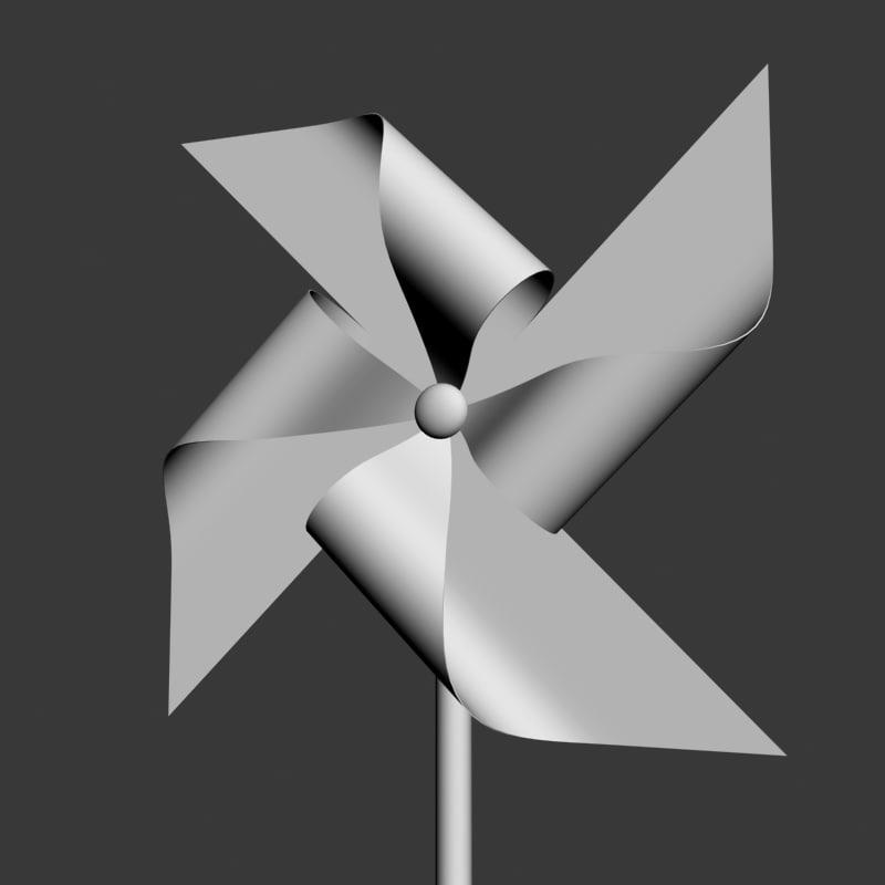 3d model pinwheel wheel pin