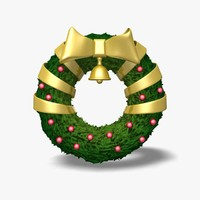 wreath icon statue 3d obj