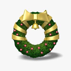 wreath icon statue 3d obj