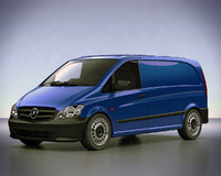 3d model mercedes vito van