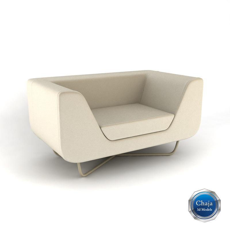 3ds max armchair chair