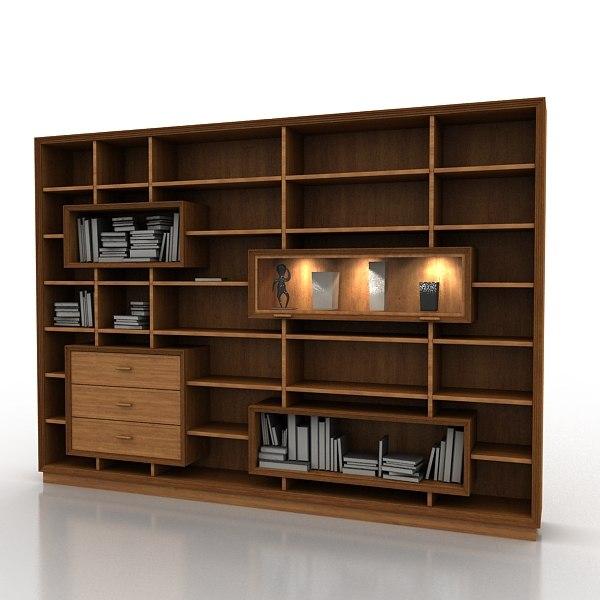 books storage giorgio piotto 3d model