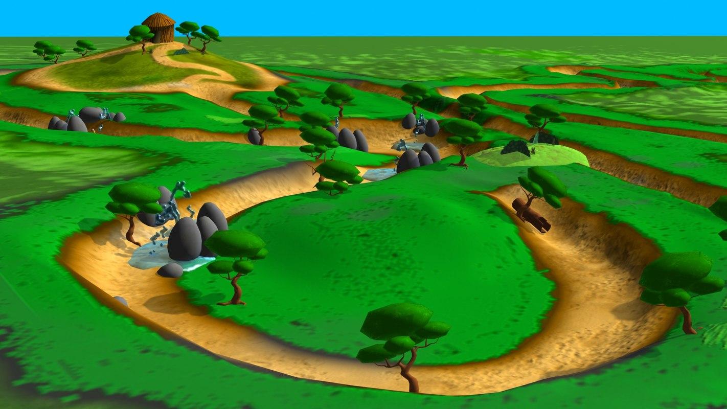 3d model bosque cuentos t