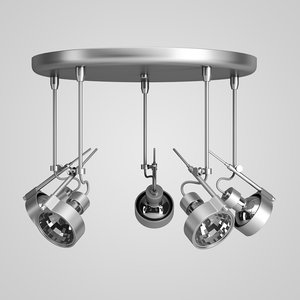 3d model halogen lamp set 34