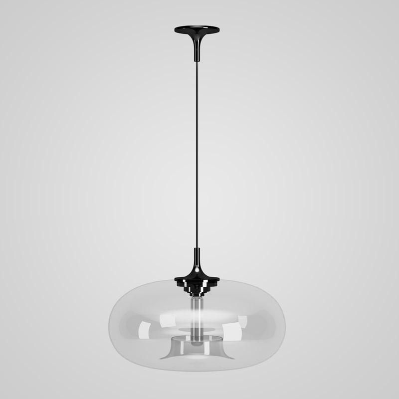 3d model hanging glass lamp 40