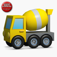 3d model construction icons 25 concrete mixer