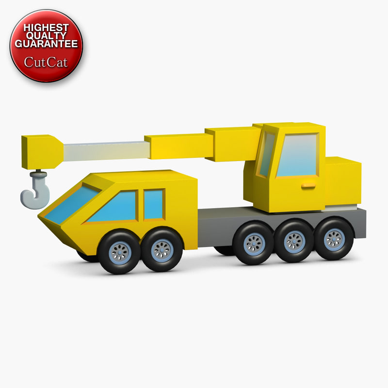 construction icons 31 crane 3d model