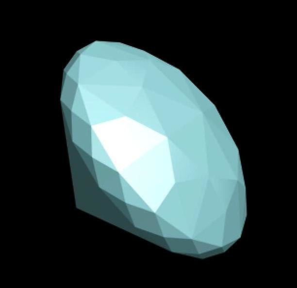 3d diamond gem