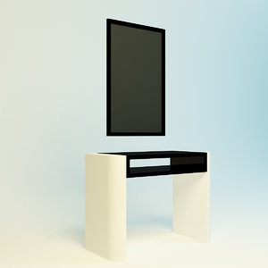 realistic dressing table 3d ma