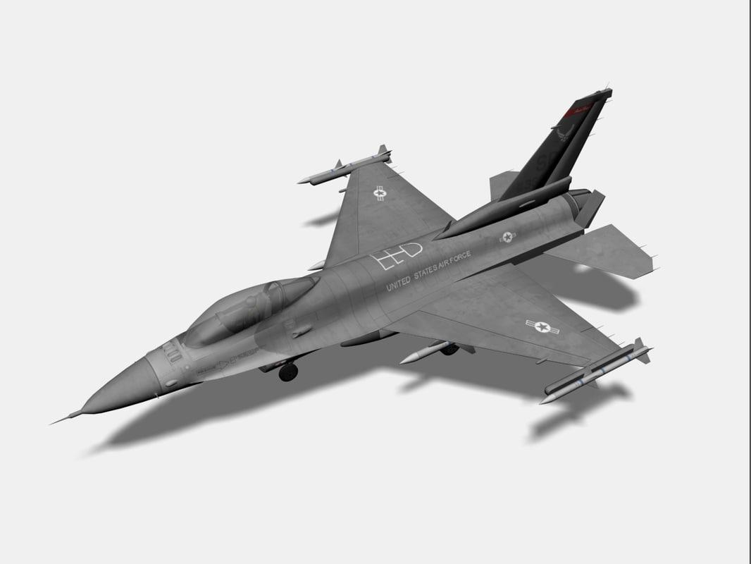 3d f-16 fighter jet model