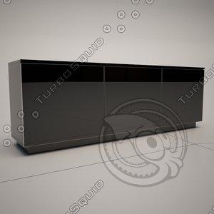3d cattelan italia futura sideboard
