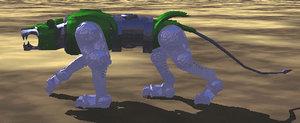 3d model green lion