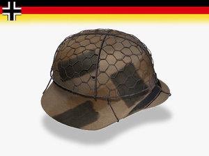 3d wwii german helmet