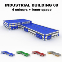 3d large industrial building 09 model