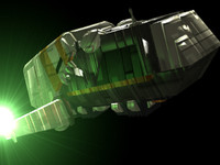 3d model life shuttle