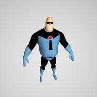 3d model of mr incredible