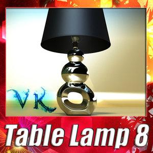 3d model modern table lamp 08