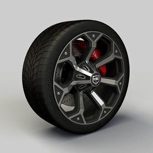 3d tis17 rim tyre model