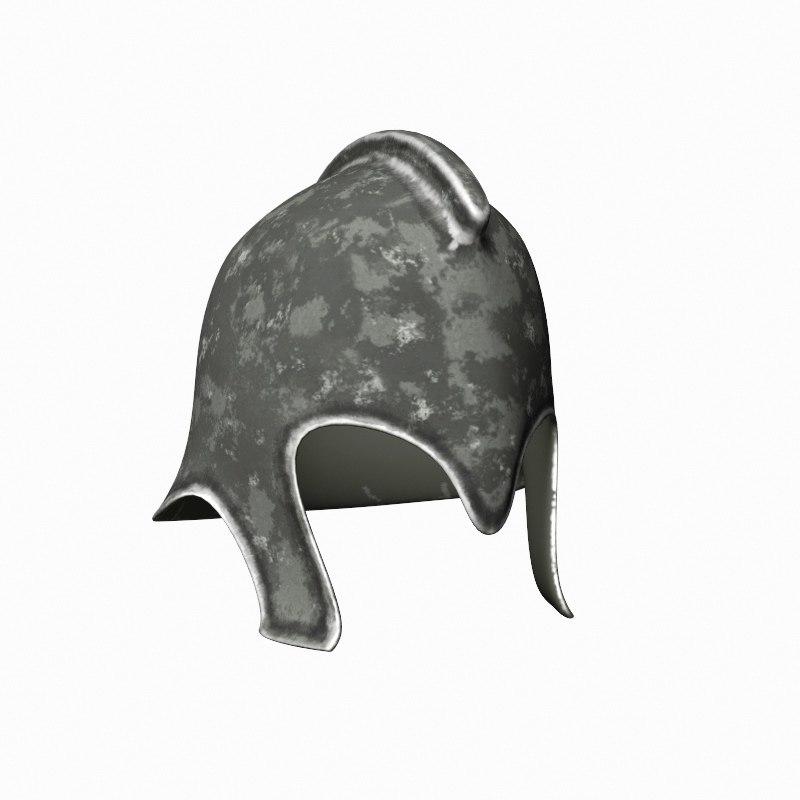 3d model iron helmet