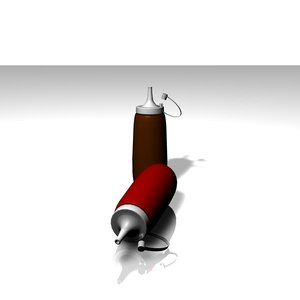 3d c4d bottle brown red