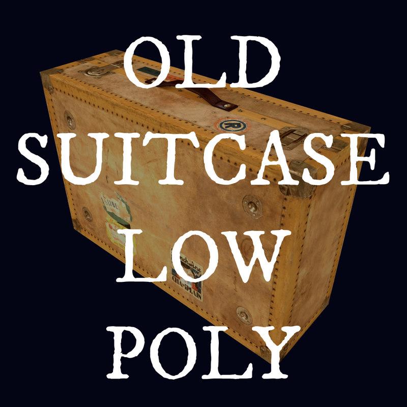 suitcase case 3d obj