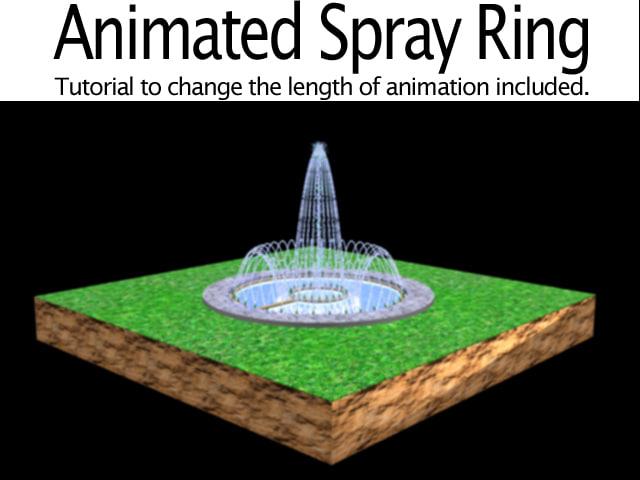 3d fountain spray ring model