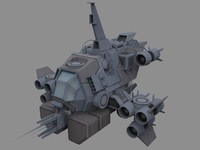 vandal modular fighter 3d model
