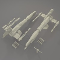 3d model of spaceship fighter