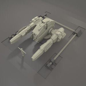 energy cannon 3d model