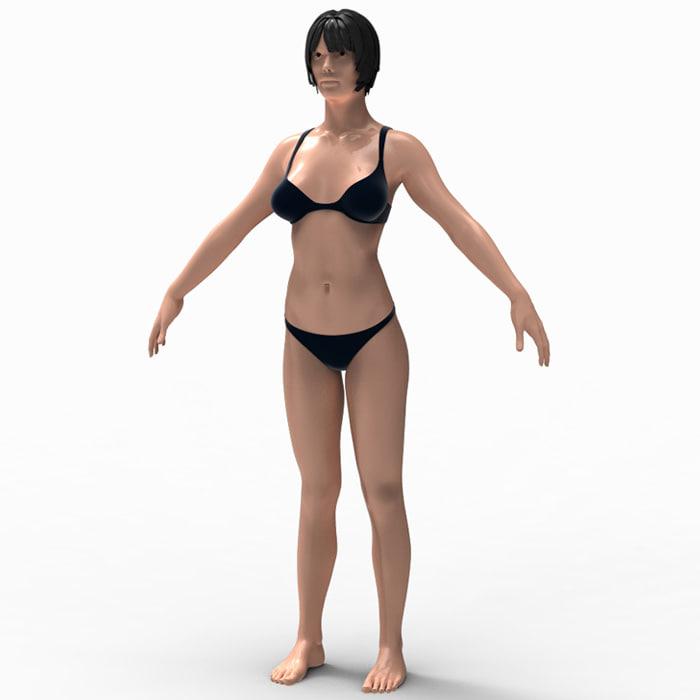 3d Monica Female Anatomy Model
