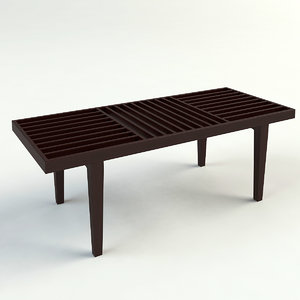 3dsmax serenity slats bench