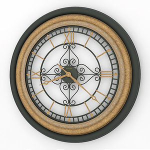 3d model of analog decorative wall clock
