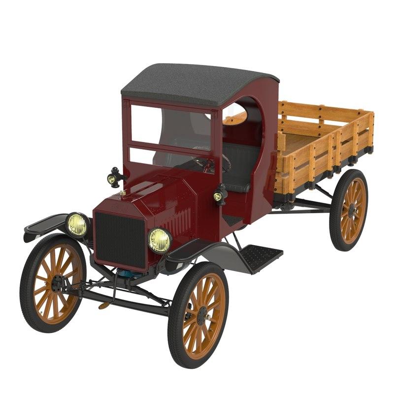 automobile t trucking tt 3d model