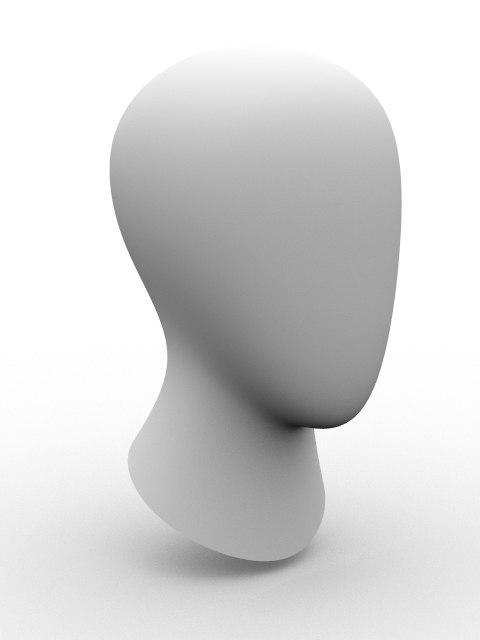 head mannequin 3d model