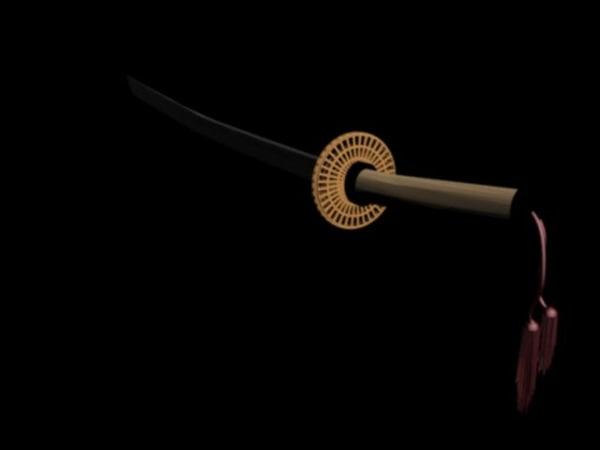 3d japanese sword katana