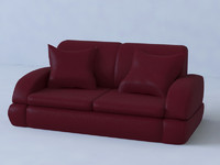 3d leather sofa couch