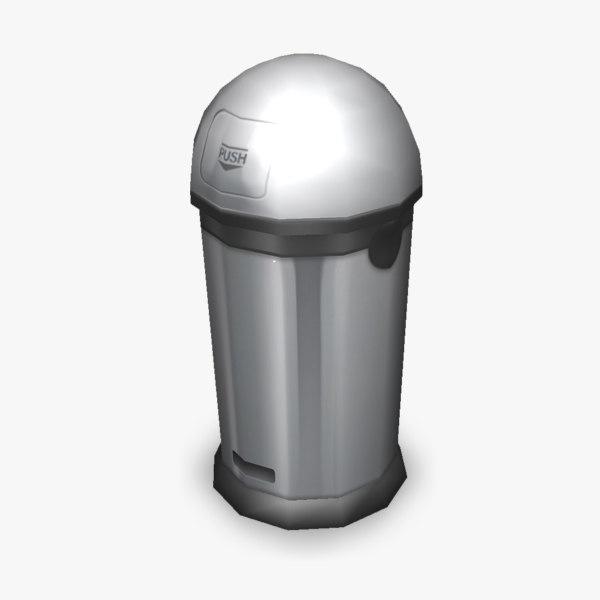 maya garbage bin 3dgm