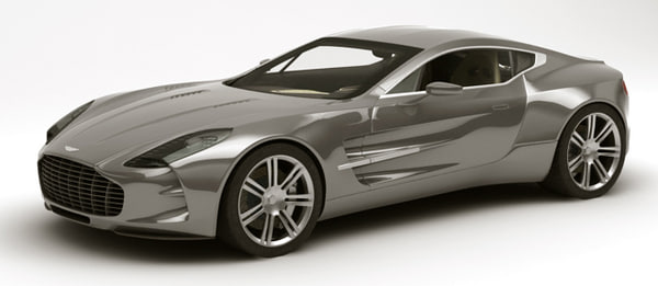 aston martin one-77 rigged 3d model