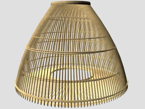 3d model african fishing trap net