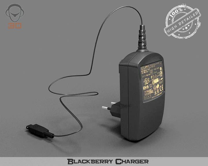 blackberry charger 3d model