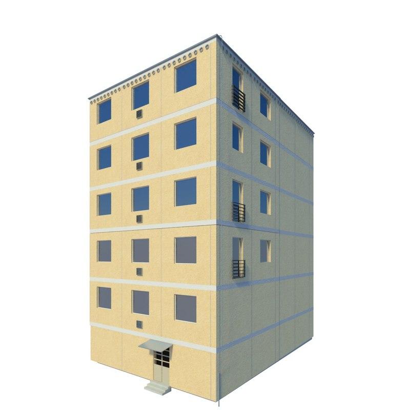 3d model of block flats