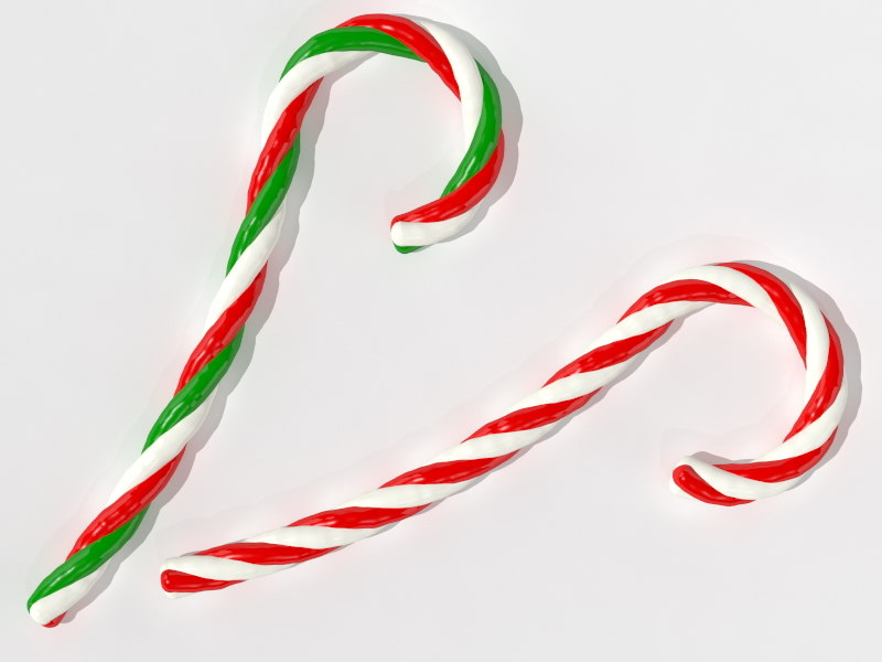 christmas candy canes 3d 3ds