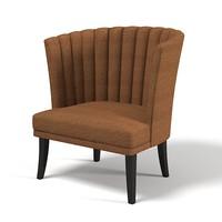 3d chair chamber troscan model