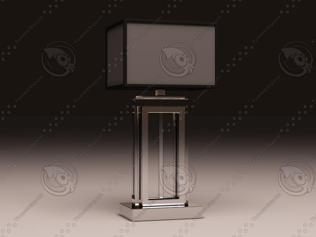 3d model eichholtz lamp arlington crystal