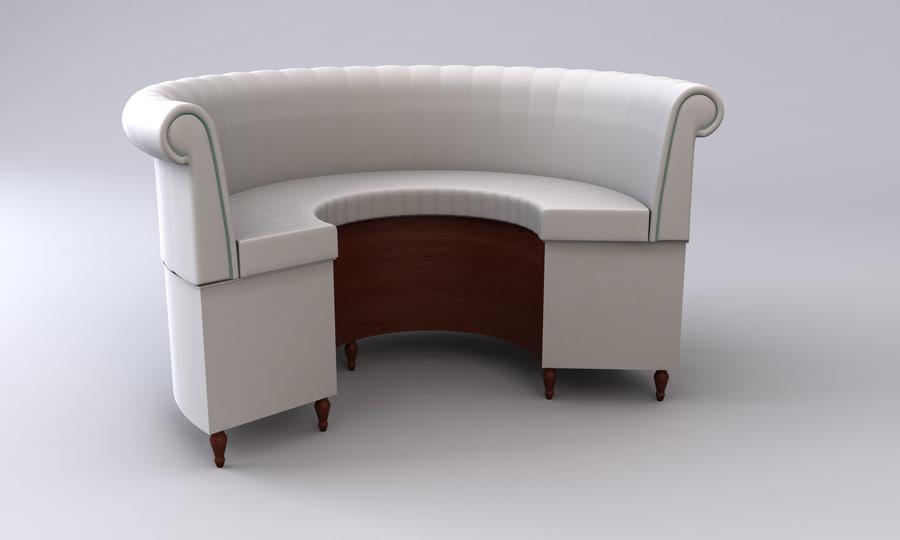 bar restaurant curved seat obj