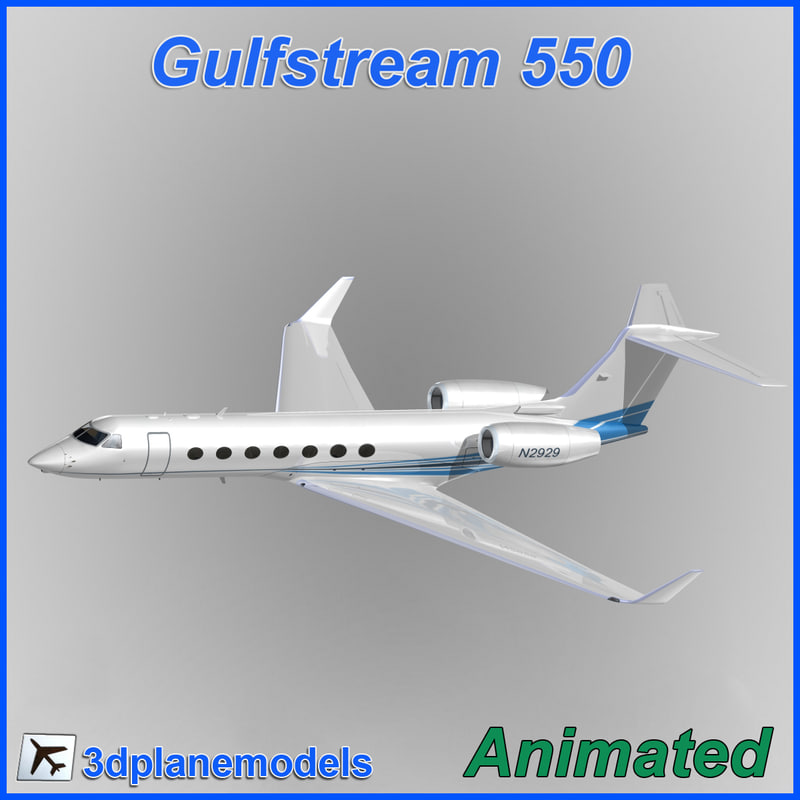 3d gulfstream g550 1
