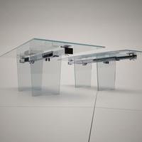 cattelan italia helios dining table 3d model
