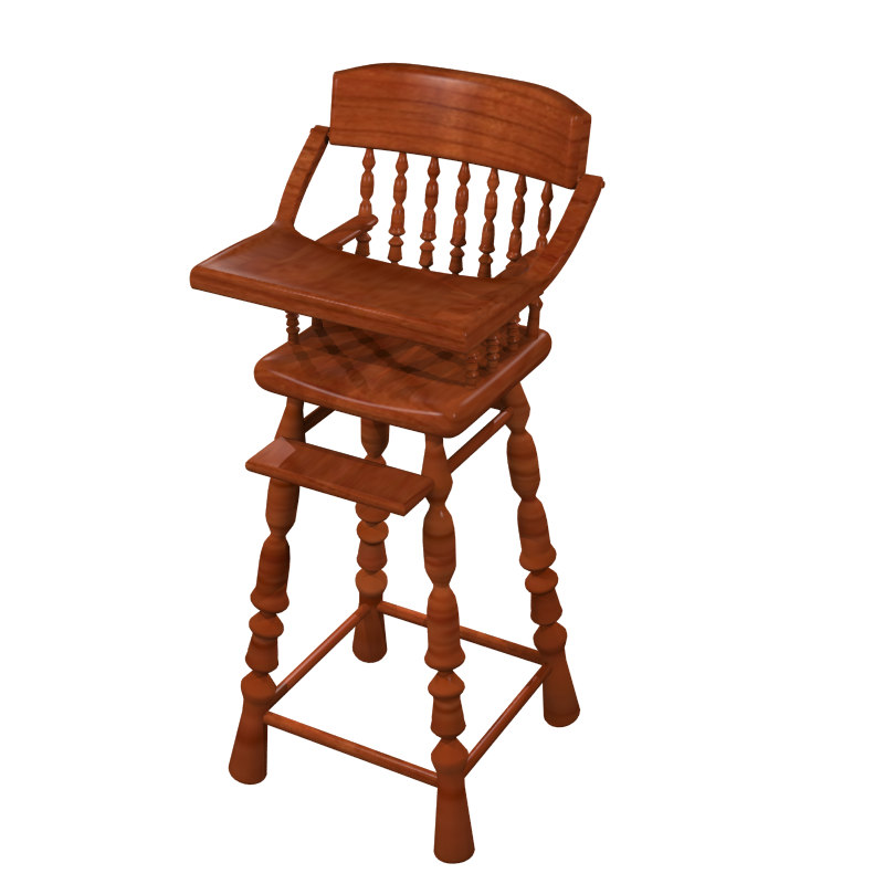 3d chair baby s model