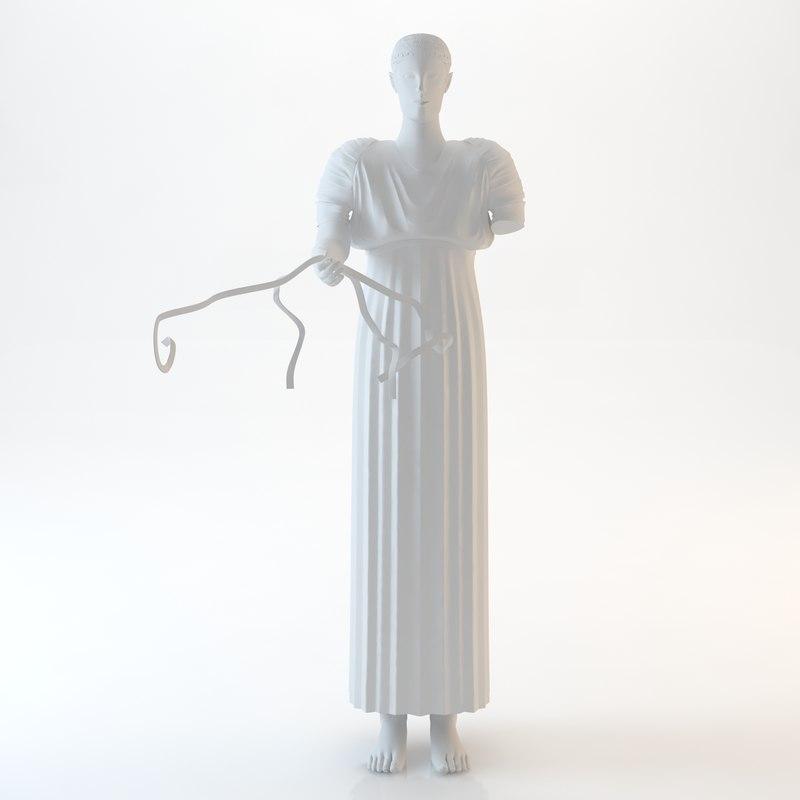 3d iniohos statue