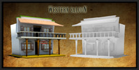 3d wild west saloon western